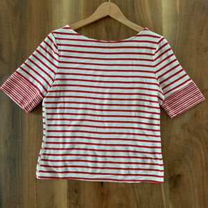 Anthropologie stripe red and white t shirt